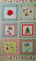 """1 panel 24"""" x 44"""" cotton fabric Christmas Holidays Benartex home decor quilting"""
