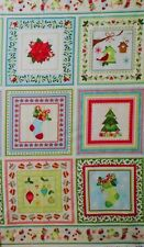 "1 panel 24"" x 44"" cotton fabric Christmas holidays Benartex home decor quilting"