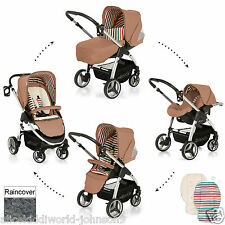 NEW Hauck 2 Way Lacrosse Travel System Pushchair Pram buggy Carseat  Toast beige