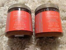 Set of 2 Bath & Body Works - Lavender & Sandalwood Body Scrub 8oz