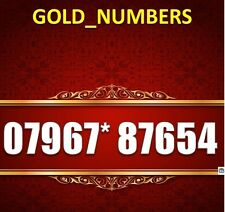 GOLD NUMBER EASY NUMBER MEMORABLE MOBILE PHONE NUMBER SIM CARD 07967*87654