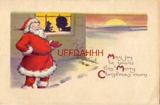 MAY JOY BE YOURS THIS MERRY CHRISTMAS MORN - Santa outside window