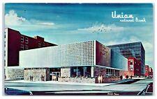 1950s Union National Bank, Minot, ND Postcard