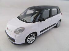 D  Mondo® City Modellauto Fiat  500 L weiß / schwarz  Scale 1:43 Metall
