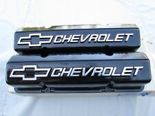 GM  CHEVY ORIG. NOS TALL VALVE COVER POWD COATED IN BLACK (USA) MADE SMALL BLOCK