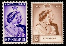 Singapore stamps -1948 Silver Wedding 2v set mounted mint cat. $120