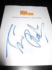 "Tim Roth Autographe Signé "" Pulp Fiction "" Film Script Travolta Tarantino Rare"