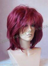 Burgundy Red Layered Womans Nirvana Tina Turner Drag? Wig