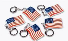 """1152 US Flag Keychains 2"""" American USA Patriotic Giveaway #ST46 Free Shipping"""