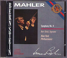 Leonard BERNSTEIN MAHLER Symphony No.4 Reri Grist 1960 CBS CD Made in Japan NYPO