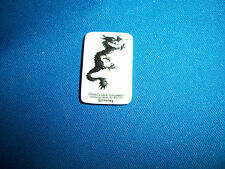 CHINESE DRAGON PIRATE CARIBBEAN WORLD'S END Mini Plaque FRENCH Porcelain FEVES