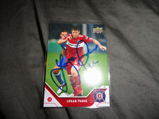Chicago Fire Logan Pause Autographed 2011 Upper Deck MLS Card
