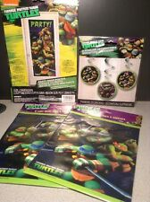 Lot of TMNT Ninja Turtles Birthday Party Supplies, Loot Bags, Door Cover, Decor