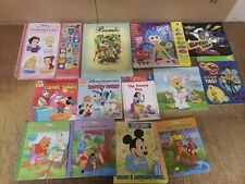 Lot of 25 Walt Disney Popular Cartoon Children Learn Read Kids Books-MIX SET KD4