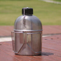 Stainless Steel Canteen Kettle & Cup Set Suitable for Outdoor Camping Hiking