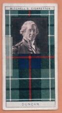 Duncan Family Clan Celtic Tartan Pattern Scotland Kilt c90 Y/O Trade Ad Card
