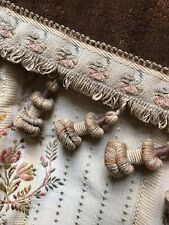 Antique French Chateau Pom Passmentarie Trim c1880s passmentarie timeworn