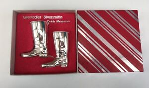 Vintage Grenadier Silversmiths Silver Plated Drink Measures - Riding Boots