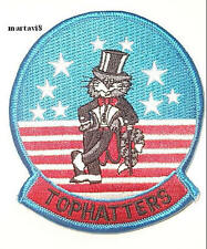US.Navy F-14 Tomcat `VF-14 TOPHATTERS` Cloth Badge / Patch (F14-4)