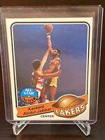 1979 - 1980 Topps Kareem Abdul Jabbar #10 Los Angeles Lakers HOF VG-NM Condition