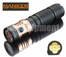 MANKER E14 II Cree XP-G3 LED 2200lm USB Rechargeable 18650 Flashlight
