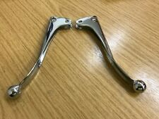 PAIR OF CHROME BLADE LEVERS BRAKE AND CLUTCH FOR BSA TRIUMPH NORTON BALL END