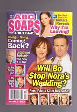 ABC SOAPS IN DEPTH GENERAL HOSPITAL WILL BO STOP NORAS WEDDING MARCH 2005