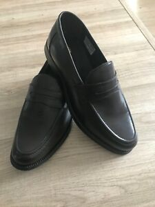 Clifford james Brown Real leather Men Formal Slip On Shoes size UK 8.5 Loafers