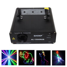 1W RGB DMX Full Color Laser lighting Auto Sound Program DJ Stage Effect 1000 mW