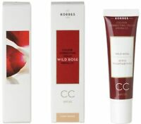 KORRES CC CREAM COLOUR CORRECTING WILD ROSE SPF30 LIGHT OR MEDIUM SHADE 30ml