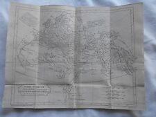 RARE ANCIENT HISTORY MAP-MADE BY MR.D'ANVILLE-1740-THE WORLD-AS KNOWN -ANCIENTS