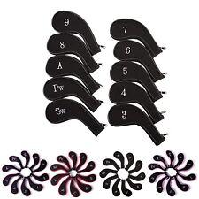 Golf Head Iron Cover Set 10 Piece 3 - 9 Iron Plus SW PW Universal Iron Covers