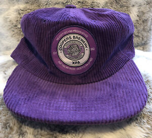 LIMITED EDITION OFFICIAL COOPERS BREWERY XPA PURPLE CORDUROY SNAPBACK FLAT CAP