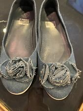 Fit Flop Denim Shoes Sz 9W Nice Condition