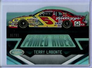 2016 Panini Certified Famed Rides MIRROR SILVER Parallel Terry Labonte #7/99