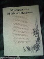 Protection for BOS Wicca Book of Shadows Parchment pg Pagan Occult Spells