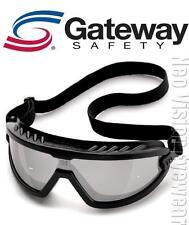 Gateway Wheelz Smoke Black Safety Goggles Glasses Lightweight Z87+