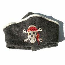 Fashion Traditional Wool Felt Sauna bath cap Pirate Skull Style High Quality 1Pc