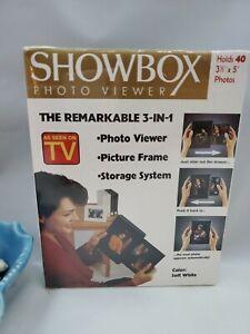 Showbox Photo Viewer For 4x6 Photos (40) Storage System Frame (1994, Holson) New