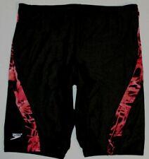 Mens Speedo Swimwear Swimsuit Jammer Compression Swim Short Sz: 38 Black Red