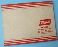 1960's BSA MOTORCYCLE ORIGINAL FACTORY SERVICE BOOK MANUAL A65 A50 STAR  ROCKET