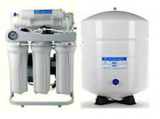 Ro Reverse Osmosis Water Filtration System Tfc-2012-200 Booster Pump 6 G Tank