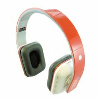 Bluetooth Wireless Headphones/Headset With Call Mic/Microphone - Red