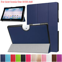 Folding Leather Case Stand Cover Shell For Acer Iconia One 10 B3-A40 10.1inch UK