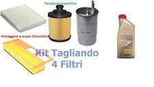 KIT TAGLIANDO FILTRI + 4LT OLIO  5W30 FORD FIESTA V FUSION 1.4 TDCI 50KW