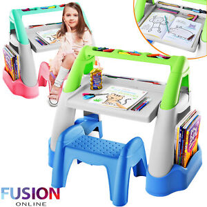 Kids Table and Chair Set Childrens Study Plastic Desk Toddlers Child Activity