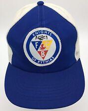 Vintage Knights of Pythias FCB Logo Patch Front Snapback Mesh Back Trucker Hat