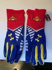 Nwt Under Armour Superman Football Gloves. Size 2Xl
