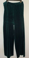 Bobbie Brooks Velour Lounge Pants Pull On Green Cotton/Poly Plus Size 2X (20-22)