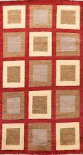 Checkered Gabbeh Kashkoli Oriental Area Rug Wool Hand-Knotted Modern Carpet 6x10